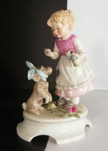 1972 Goebel Lore Blumenkinder 253 Figurine THE PATIENT Girl Helping Pupp... - $48.46