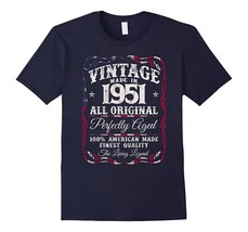 Vintage USA Legends Made in 1951 T-Shirt 66th Birthday Gift Men - $17.95+