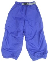 REI Toddler Sled Snow Ski Pants Belted Royal Blue Kids Youth Growth Tuck 4T - $28.05