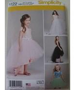 Simplicity 1122 Girls Tulle Ballerina Skirts Pattern 3 4 5 6 UNCUT Dance... - $6.99