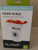 Fit & Fresh Food Scale with removable portion tray BPA Free
