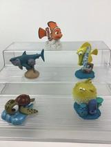 """Finding Nemo Toy Figures Topper 5pc Lot Disney 2"""" PVC Bloat Bubbles Bruc... - $14.21"""