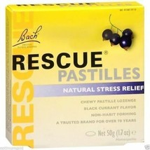 Rescue Remedy Pastilles Black Currant Natural Stress Relief Homeopathic ... - $6.99