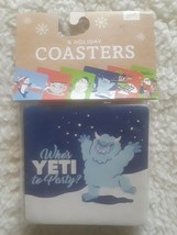 Pack of 6 Assorted Christmas Holiday Coasters NEW Funny ~Abdominal Snowman - $8.19