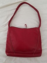 FOSSIL RED SOFT LEATHER  TOTE - $14.73