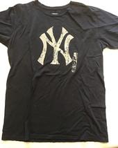New York Yankees MLB Majestic Threads Cotton Black T-Shirt Women Size XL xLarge - $19.00