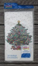 PAPER TABLE COVER 54 x 96 CHRISTMAS TREE Signed TCD NEW by PARTY CREATIONS - $5.70