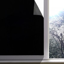 Blackout Window Film, Static Cling Window Tint 100% Light Blocking Glass... - $33.88