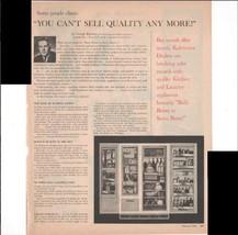 Kelvinator Refrigerators George Romney AMC President 1960 Antique Advertisement - $3.25