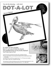 Pelican bird wildlife stippling drawing kit art crafts DYI project student - $19.95