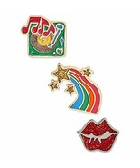 Betsey Johnson xox Trolls Decorative Pin Set, Set of 3 ( Rainbow) - $17.90