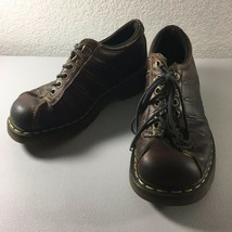 Dr Martins Womens Size 7 US AirWair Brown Leather Chunky Lace Up Oxfords... - $19.79