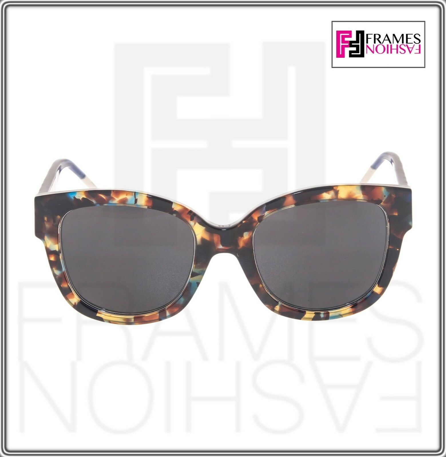 CHRISTIAN DIOR VeryDior 1N Translucent Blue Brown Havana Square Sunglasses