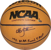 Christian Laettner signed Wilson NCAA Indoor/Outdoor Basketball '91 NCAA... - $109.95