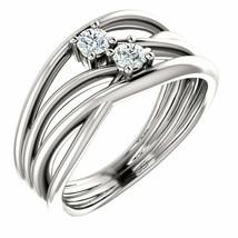 Forever One™ Charles & Colvard Moissanite Ring In 14K White Gold - €762,05 EUR