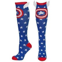 Captain America Women's Star Winged Socks Blue - $14.98