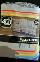 New Star Wars 40th Anniversary Full Size Sheet Set Super Soft - $39.59
