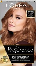 2 x L'oreal Preference 7.23 BALI Dark Rose Gold Blonde Brown Permanent H... - $37.11