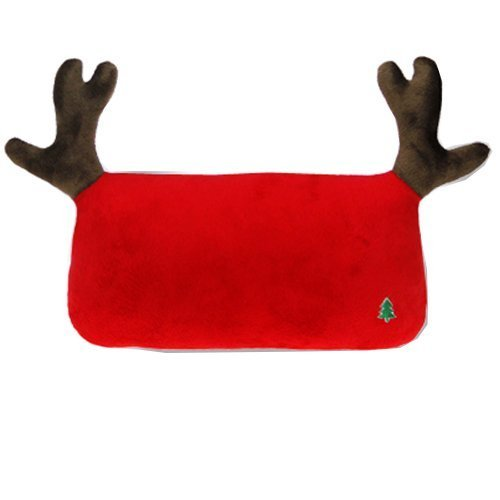 Simple Design Car Headrest/Car Neck Pillow ,(Lovely Elk) RED
