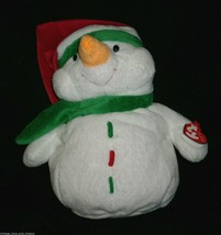 """11"""" Ty Pluffies Icebox The Snowman Stuffed Animal Plush Toy 2004 Christmas Lovey - $18.70"""