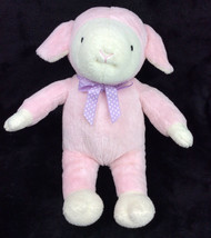 "Commonwealth Pink Sheep Lamb Purple Bow Plush Stuffed Animal 13"" SOFT - $48.37"