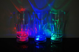 Set of 4 LED Light Up 12oz Cola Glasses - $18.95