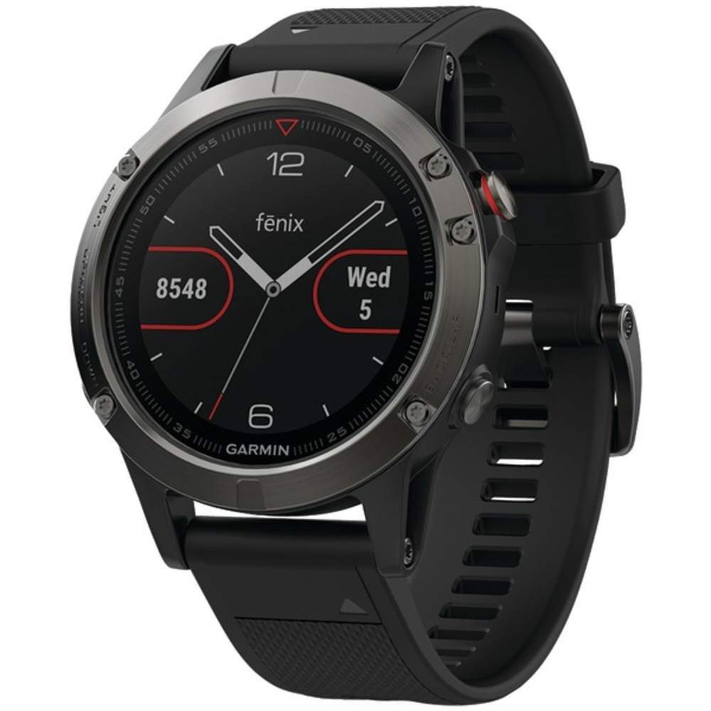 Primary image for Garmin 010-01688-00 fenix 5 47mm Multisport GPS Watch (Slate Gray with Black Ban