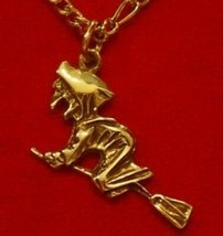 NICE Celtic Black Magic WitchCraft Witch Gold Plated charm - $15.42
