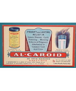 c1905 INK BLOTTER AD for Al-Caroid Gastric Distress by Am. Fermented Co ... - $4.49