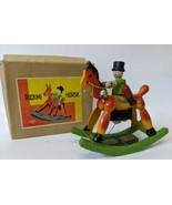 Vintage 1940's (T) Prewar Japan Wooden Wind-up Mechanical ROCKING HORSE,... - $350.00