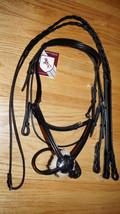 Bobby's Tack BLACK Figure 8 Bridle w/ Reins - F... - $159.00