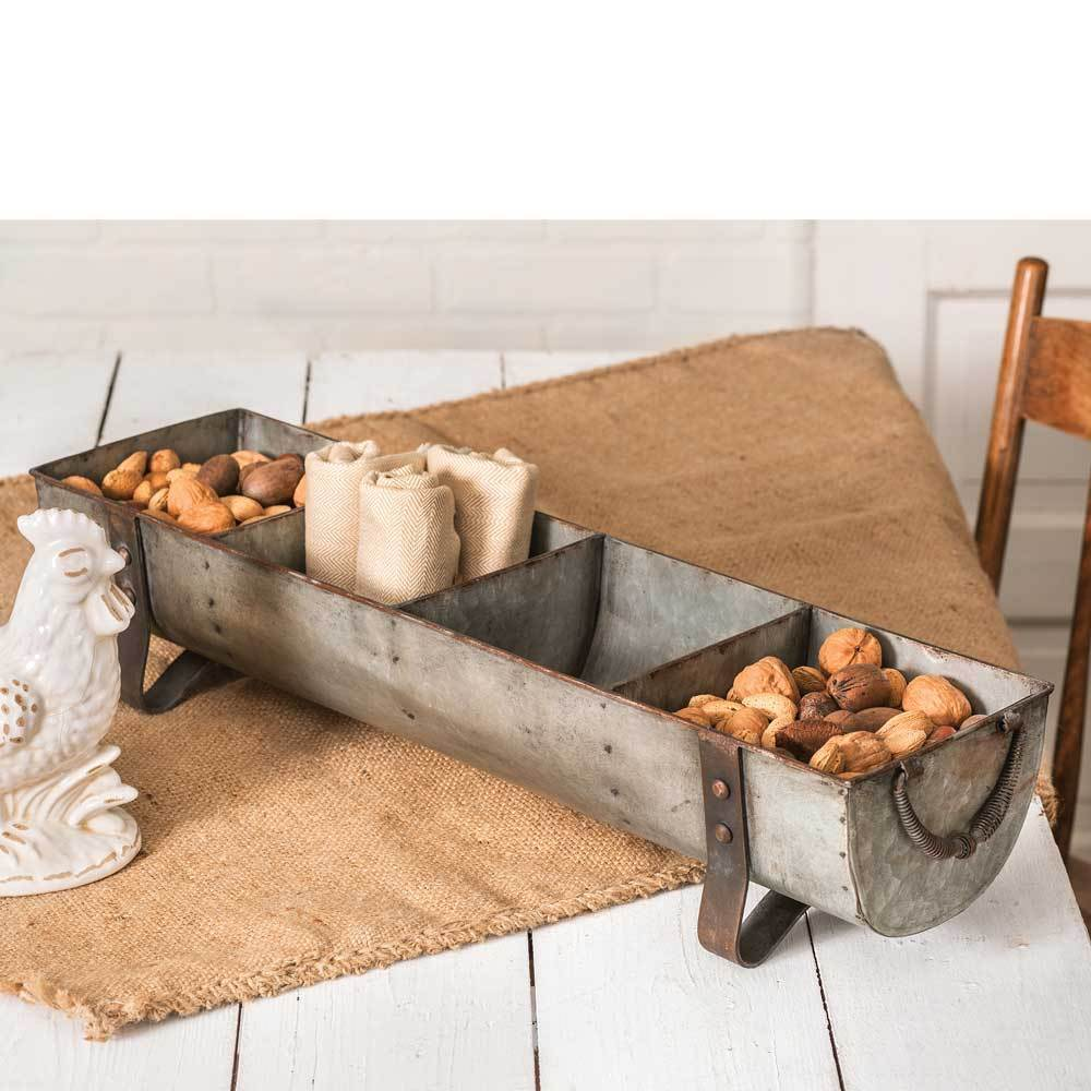 Primary image for Country Farmhouse Trough Style Centerpiece Decor Chicken Feeder