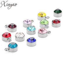XINYAO 2018 5pcs Fashion Rhinestone Crystal Charm Stainless Steel Floati... - $25.75+