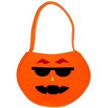 Set of 2 DIY Halloween Kids Pumpkin Bag Trick or Treating Candy Bag(Glasses)