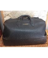 Leather DOCTOR's BAG GRIPSACK Black TOP GRAIN COWHIDE Dr. JC Kunzman SCH... - $95.61