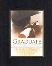 For Graduations - Graduate. . . 8 x 10 Inches Biblical/Religious Verses ... - $11.14