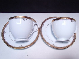 2 Noritake Buckingham Gold Cup & Saucers - $15.95