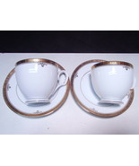 2 Noritake Buckingham Gold Cup & Saucers - $15.95