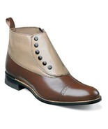 Men Stacy Adams High Top Boot Madison Biscuit Toe Brown Taupe Side Zip 0... - $116.99