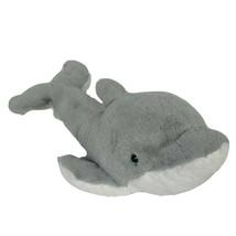 "Wild Republic Gray White Dolphin Ocean Plush Stuffed Animal 2008 15.5"" - $13.26"