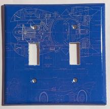 Batman Batmobile Car Blueprint Light Switch Outlet wall Cover Plate Home Decor image 3