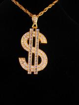 """HUGE 4"""" Dollar Sign necklace / Vintage rapper jewelry - Banker Money sig... - $125.00"""