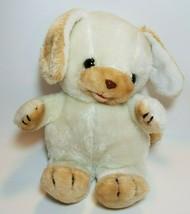 "Vintage Commonwealth Puppy Dog 12"" Plush Stuffed Animal White Beige 1983       - $34.60"
