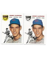 1954 Topps Archives Johnny Klippstein Chicago Cubs #31 Gold & Regular 2C... - $1.28