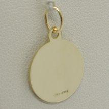 Pendant Medal Yellow Gold 750 18k, Christ the Redeemer, Jesus, 15 mm Diameter image 3