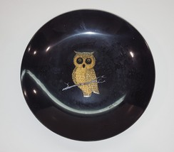 1970s COUROC Dish Black with Owl - $20.00