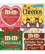 Cheerios M & M Counting 4 Board Books Animals Christmas Valentine Birthd... - $19.79