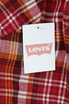 NEW LEVI'S MEN'S CLASSIC LONG SLEEVE BUTTON UP SHIRT PLAID RED 3LYLW0062C image 4