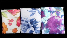 Lenox VIOLETTA or FLORAL FUSION or MOONLIT GARDEN Fabric Shower Curtain ... - $42.99