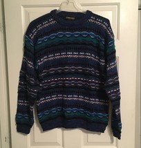 Coogie Style Mens Crewneck Sweater Sz M textured Bill Cosby Style EUC - $39.99